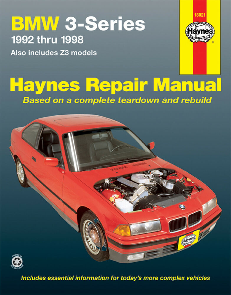 haynes 18021 service    repair manual bmw 3 series 1992