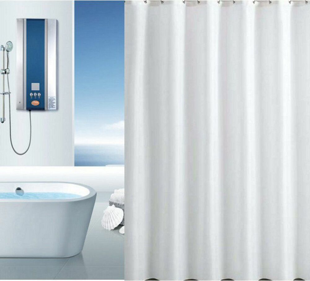 Quality Xl Large Extra Long Wide White Polyester Shower Curtain 300 250 220 200 Ebay