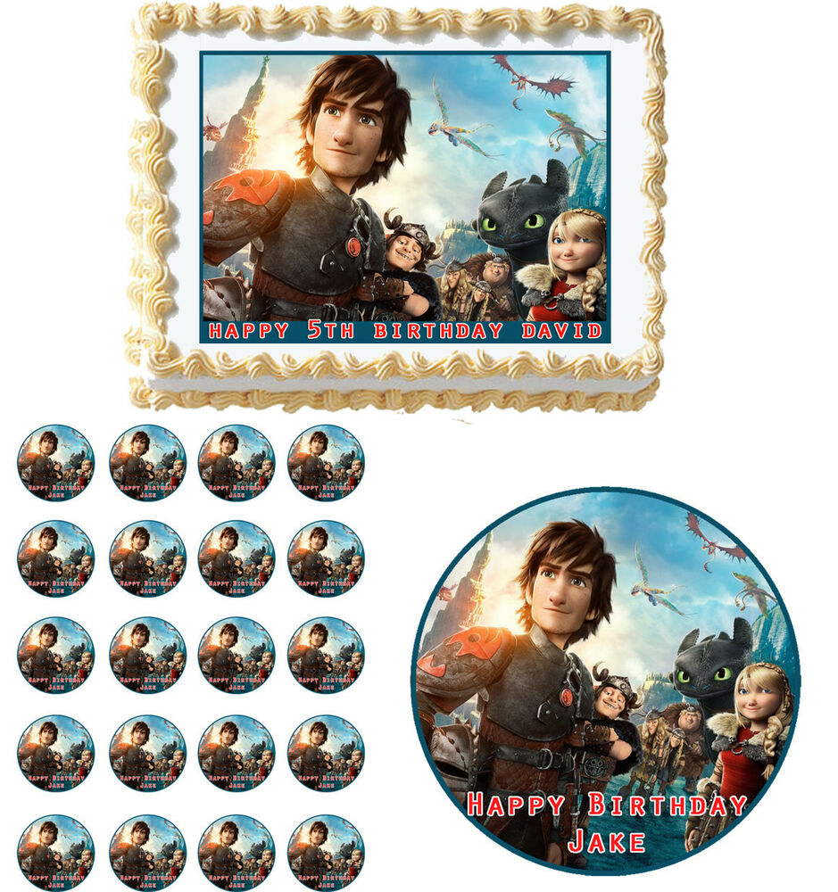 How To Train Your Dragon 2 Edible Cake Topper Cupcake