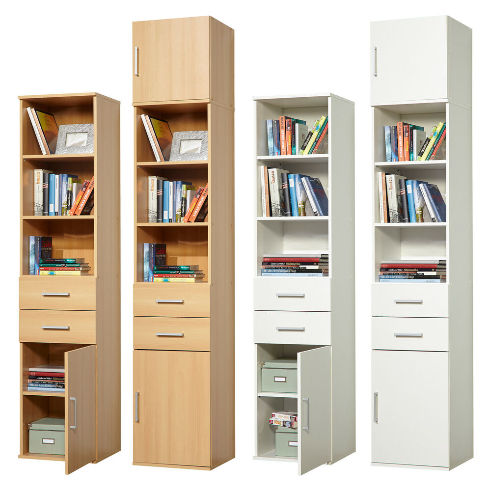 mehrzweckschrank aktenschrank b cherregal flurschrank schrank buche weiss ebay. Black Bedroom Furniture Sets. Home Design Ideas