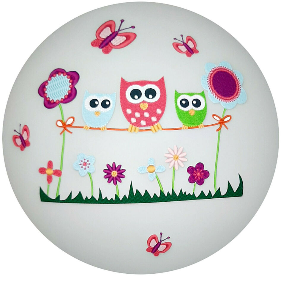 deckenlampe wandlampe eule owl 3 deckenleuchte lampe ebay. Black Bedroom Furniture Sets. Home Design Ideas