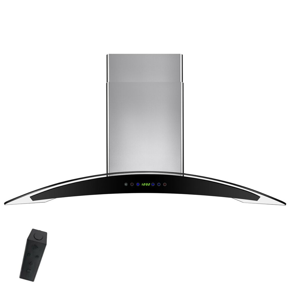 Kitchen Hoods Stainless Steel ~ Quot stainless steel tempered glass wall mount touch panel