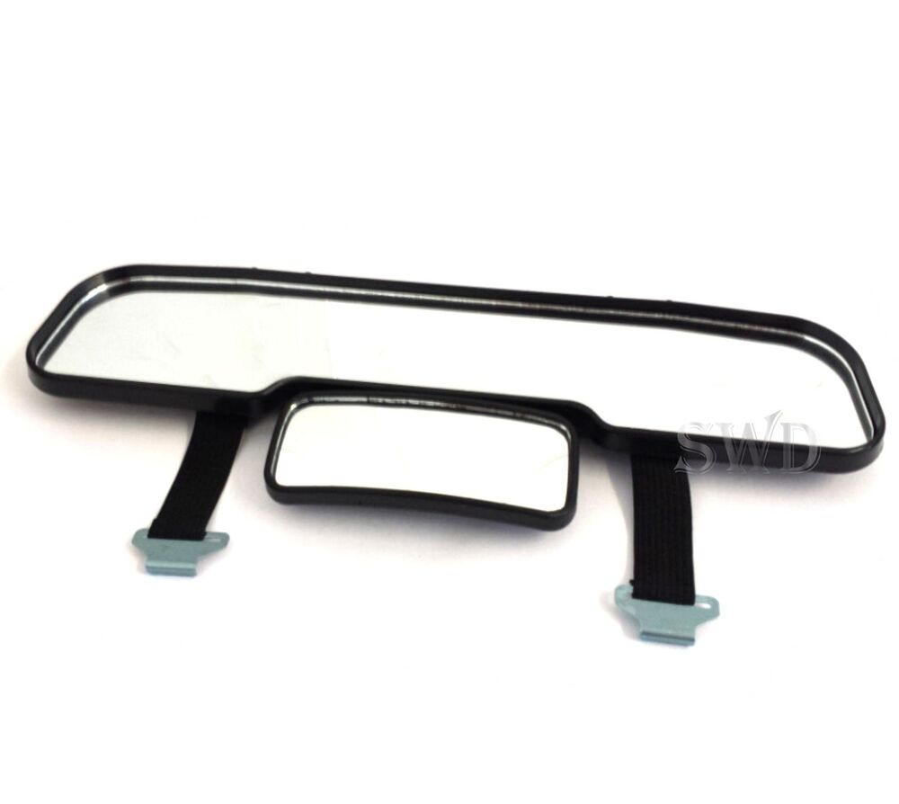 strap on wide view interior rear view mirror extender baby safety blind spot car ebay. Black Bedroom Furniture Sets. Home Design Ideas