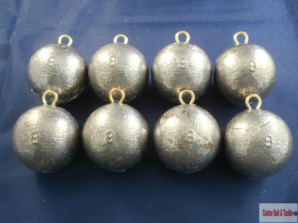 Weights cannon ball sea lead weight fast down 10 or 8oz for Balls deep fishing sinkers