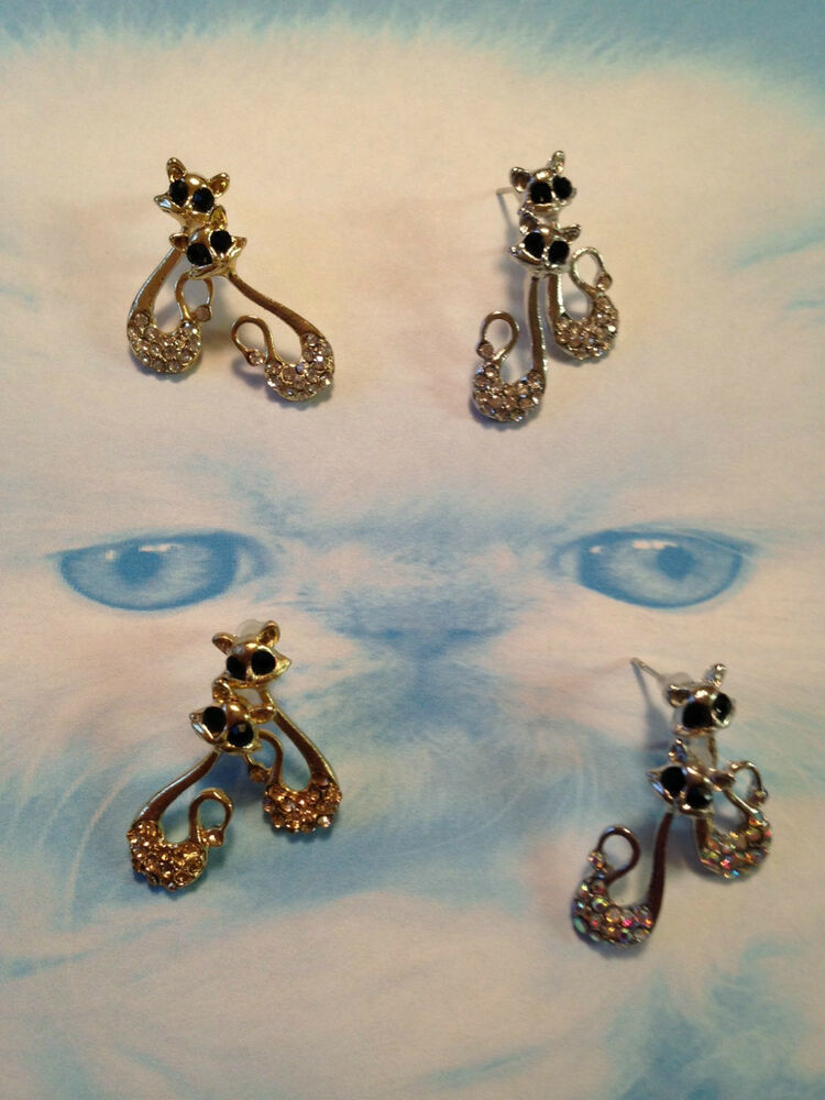 Fashion Jewelry Women Stud Cat Persian Earrings Casual ...