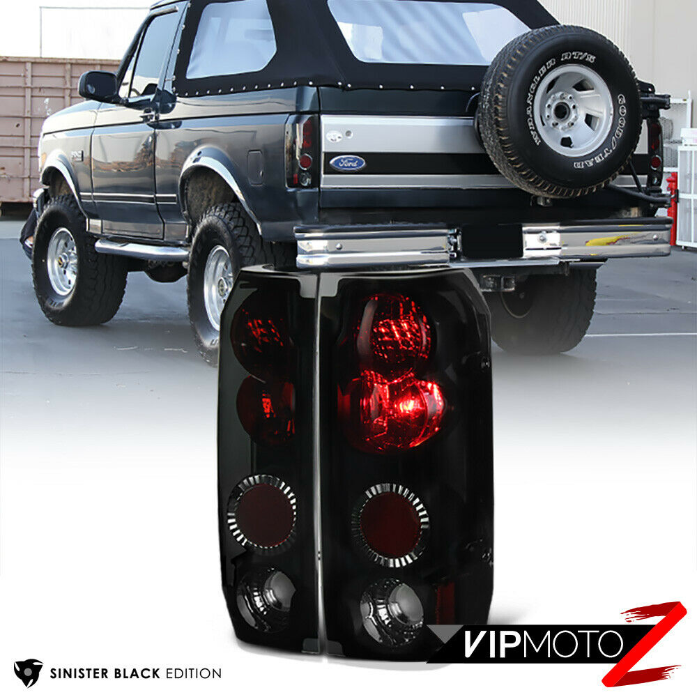 Ford F150 99: {SINISTER BLACK} L+R Tail Light Lamp Assembly FORD 1989