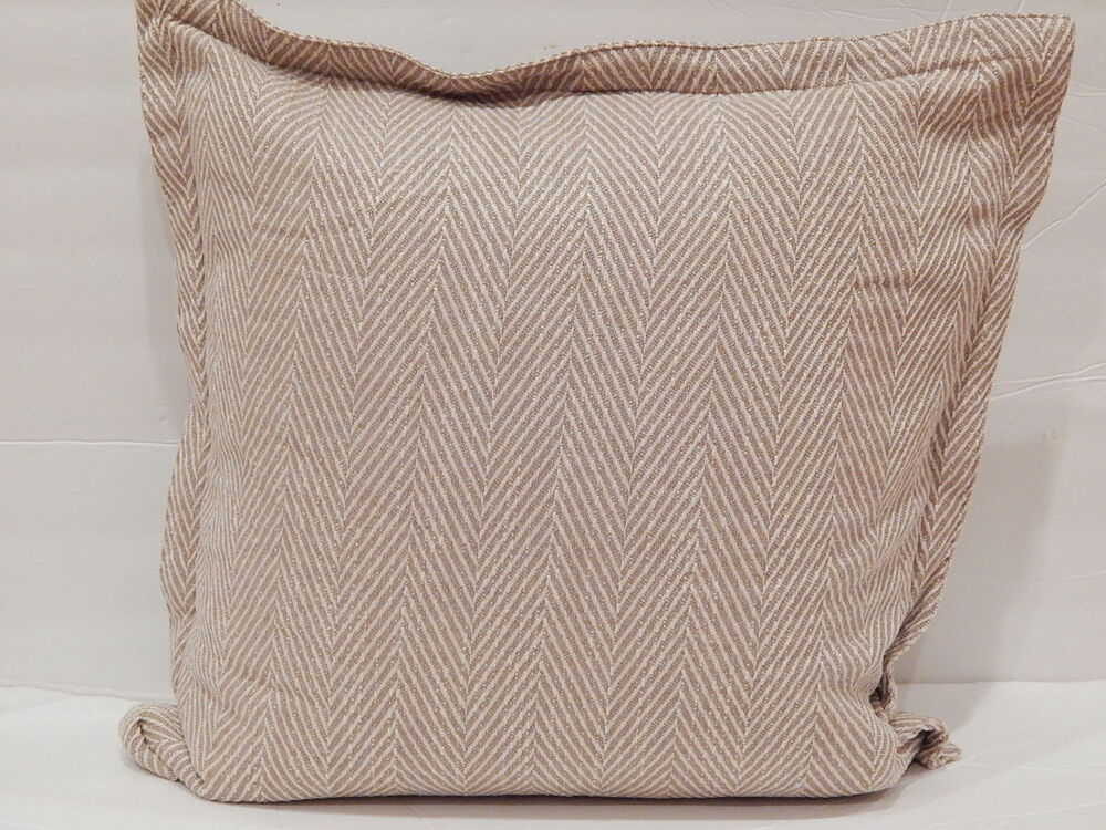 Ralph Lauren Decorative Couch Pillows : RALPH LAUREN DESERT SPA BEIGE HERRINGBONE Throw Pillow Accent Decorative Pillow eBay