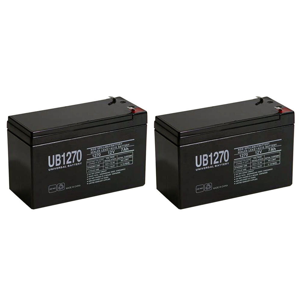 upg 2 pack 12 volt 7 amp hour alarm battery ebay. Black Bedroom Furniture Sets. Home Design Ideas