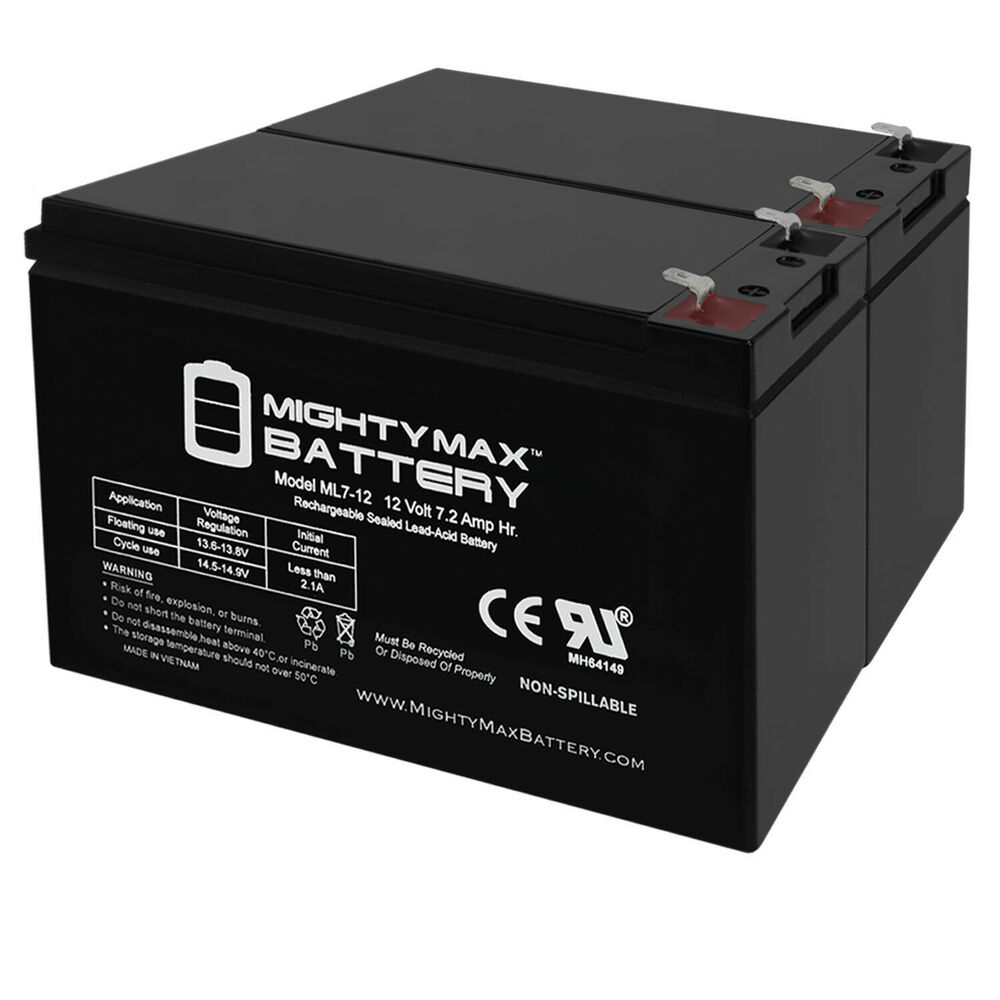 Mighty Max 12v 7 2ah Battery For Razor Ground Force