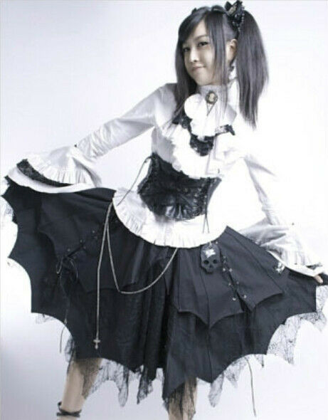 ladies black gothic punk lolita princess cosplay layered. Black Bedroom Furniture Sets. Home Design Ideas
