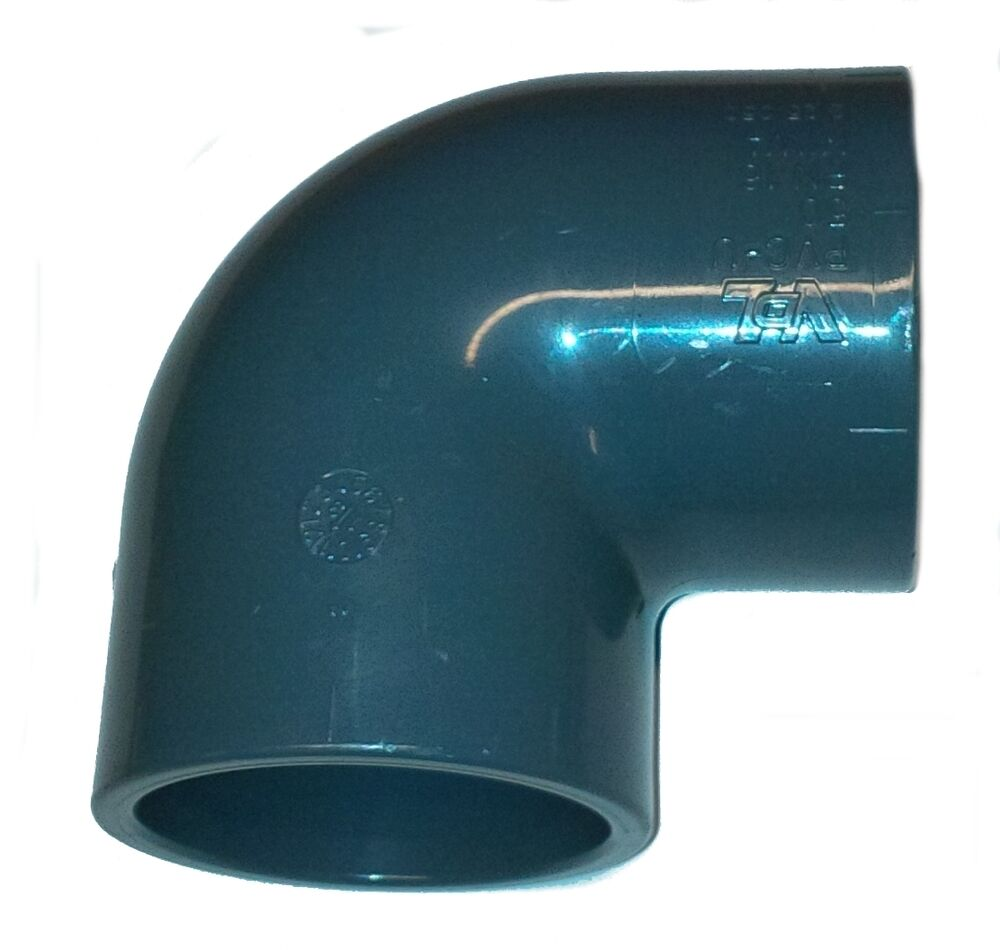 pvc pipe elbow bend 90 solvent weld glue 20mm 25mm 32mm 40mm 50mm 63mm 75mm90mm ebay. Black Bedroom Furniture Sets. Home Design Ideas