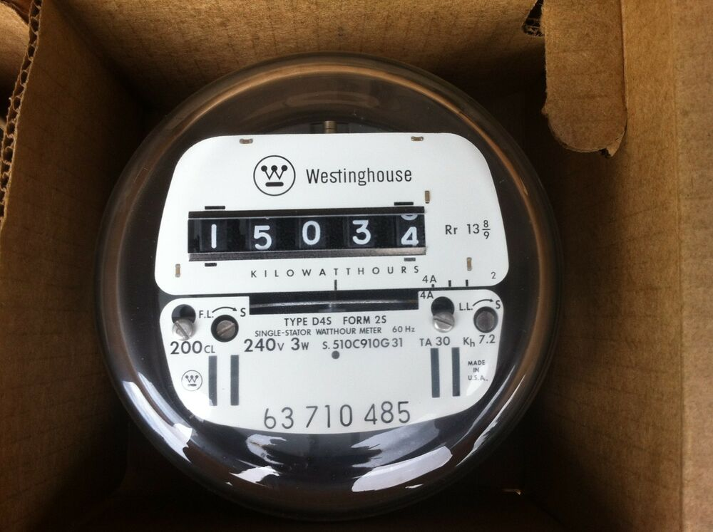 westinghouse electric watthour meter kwh ez read cyclone 240v 200 amps 3w ebay. Black Bedroom Furniture Sets. Home Design Ideas