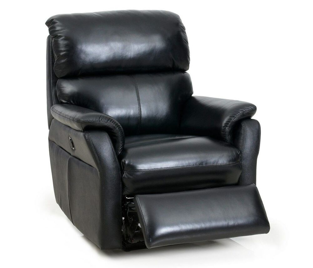 cross ii wall hugger tivoli black leather recliner chair ebay