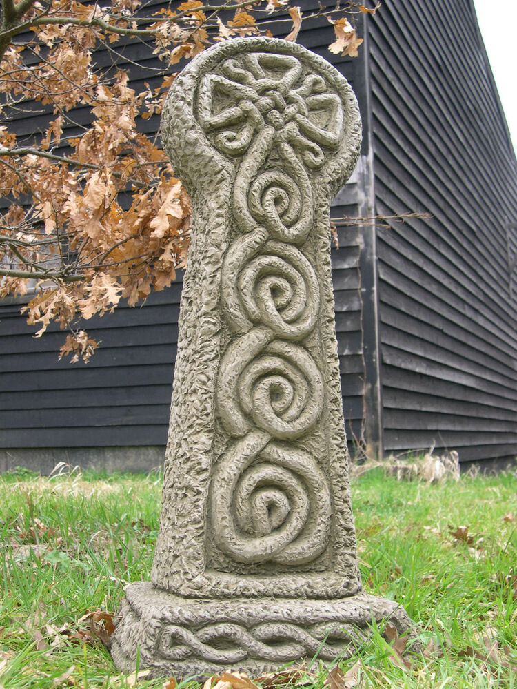 Granite Lawn Ornaments : Full size celtic cross stone garden ornament ebay