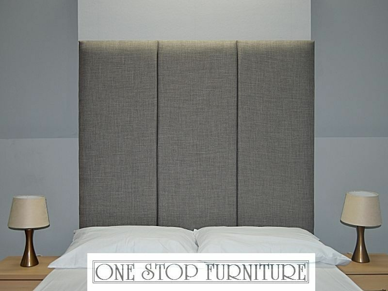 Lima High Headboard Wall Fixing Linen All Sizes 14 Colours Est On Ebay