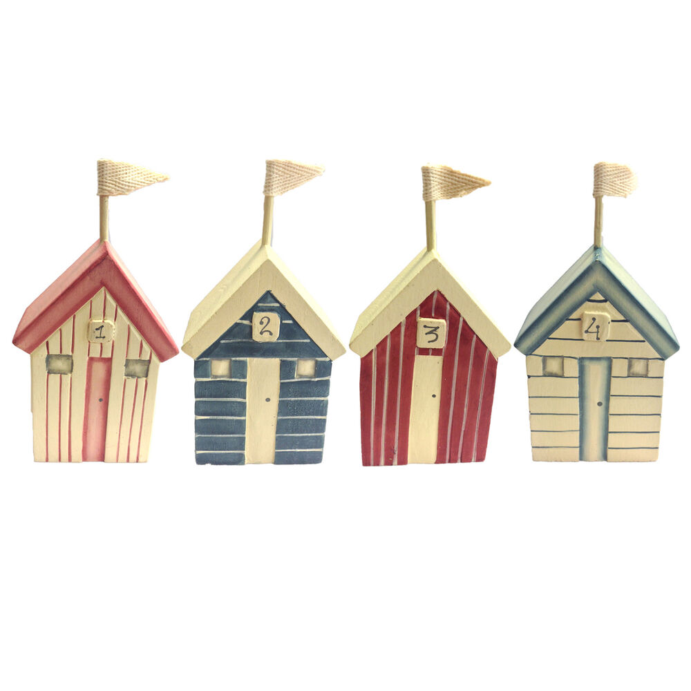 East Of India Wooden Beach Hut Ornament Nautical Seaside Home Decoration Gift Ebay