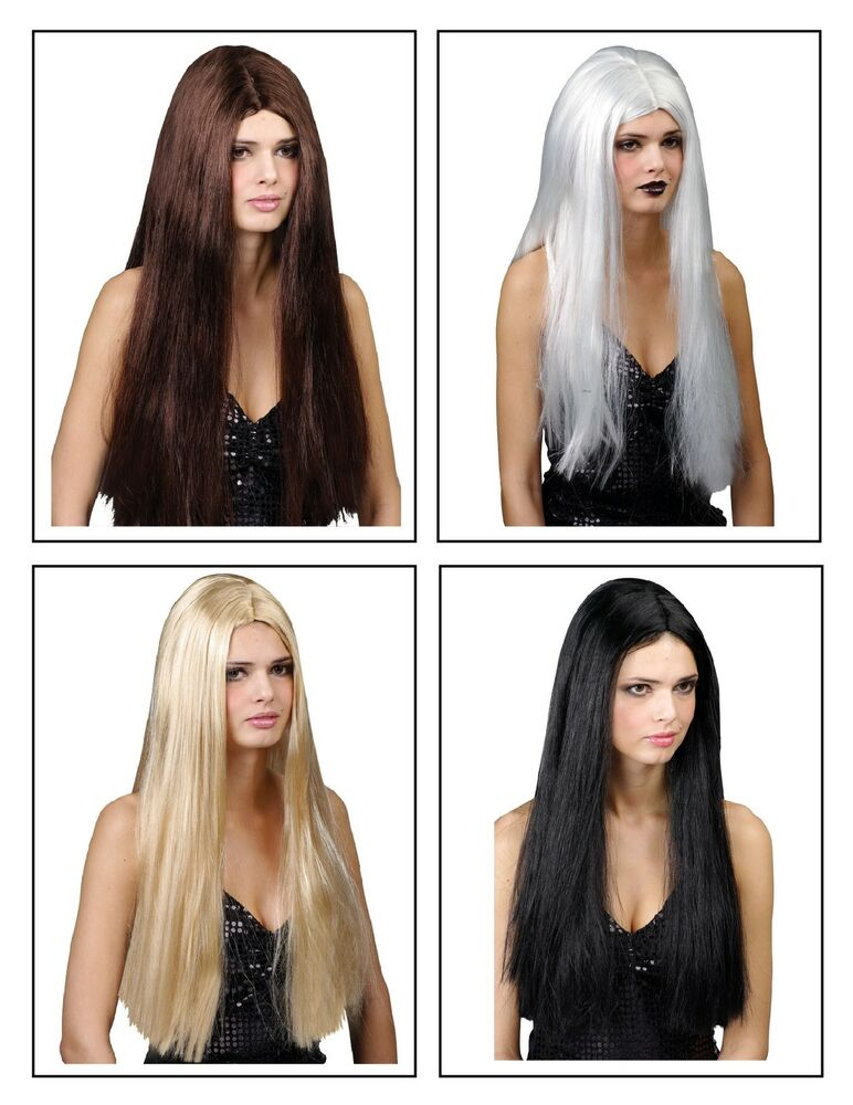 "24 Fancy Nail Art Designs That You Ll Love: LADIES CLASSIC LONG STRAIGHT 24"" FANCY DRESS WIG HALLOWEEN"