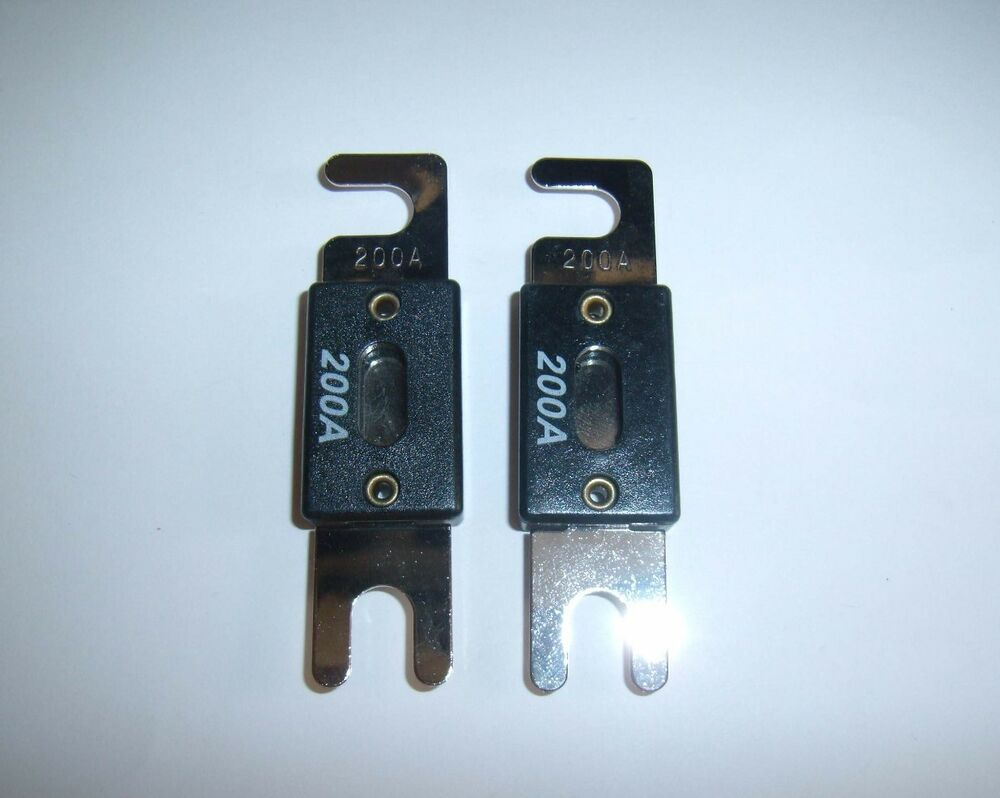 2 new nickel anl fuses 200 amp car audio power wire 200amp. Black Bedroom Furniture Sets. Home Design Ideas