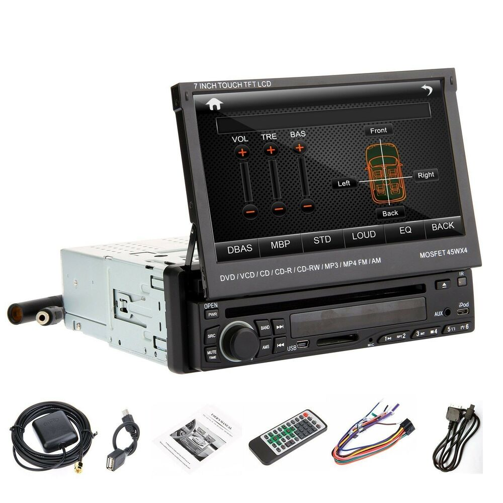 """Dash 7"""" Car 1 DIN DVD Player Touch Screen RDS Radio Stereo ..."""