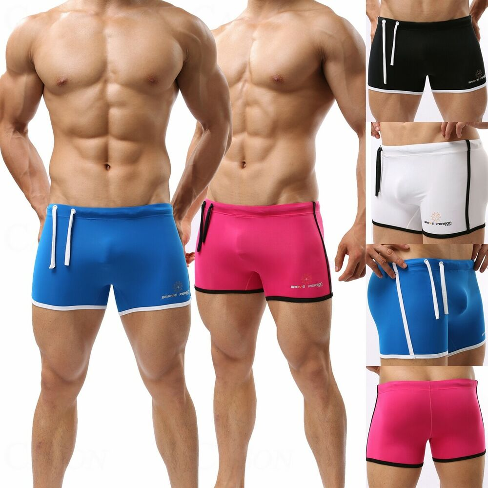 Men's Swimming Trunks Fitness Shorts Boxer Brief Swimwear ...