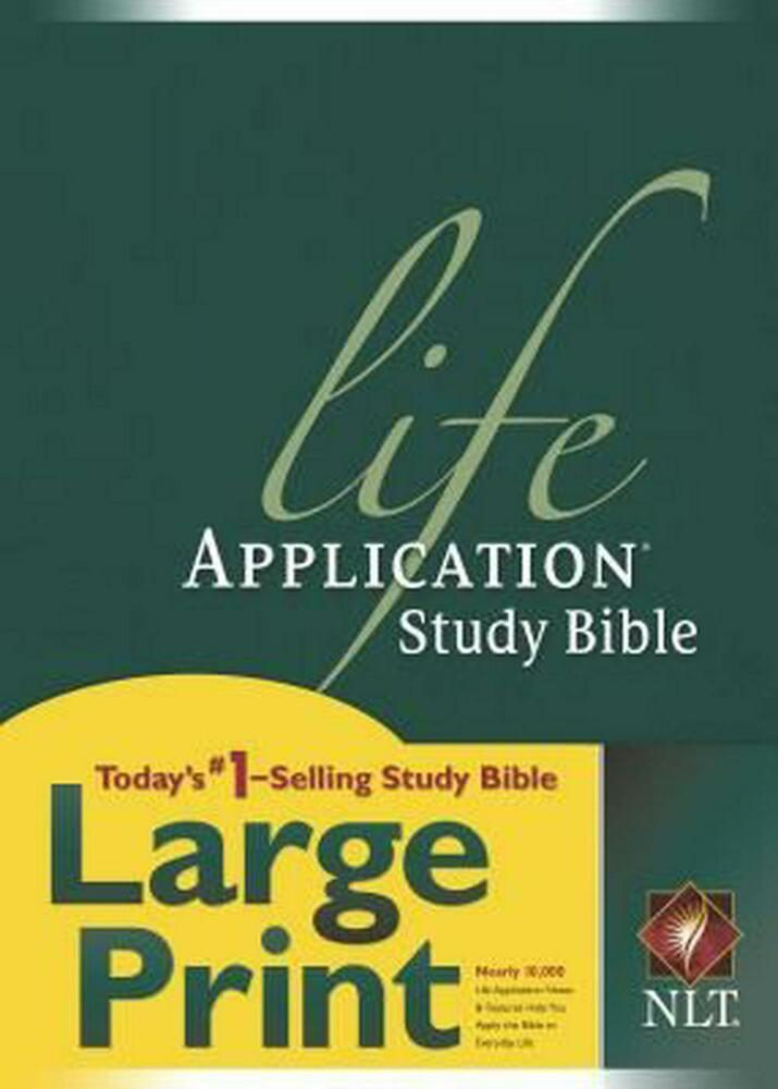 Life Application Study Bible-NLT-Large Print by Hardcover Book ...