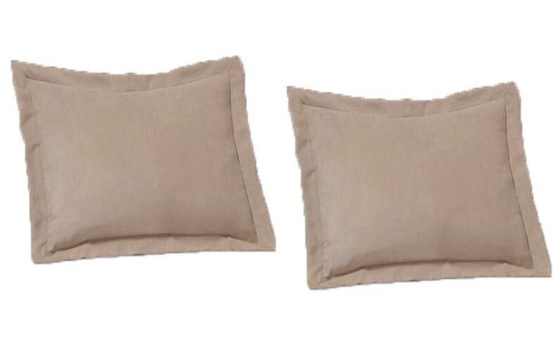 2 Piece King Size Shams Solid Beige Cover Case Micro Suede Decorative Pillow eBay