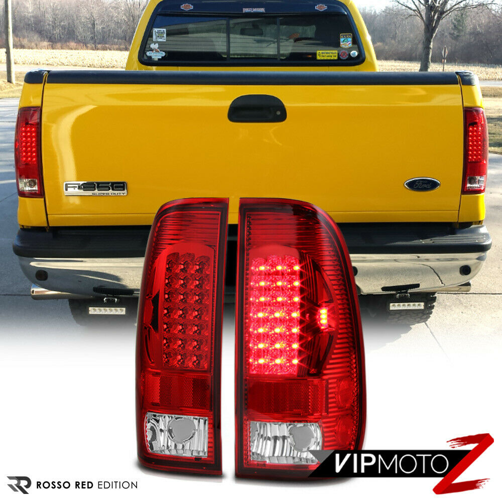 97 Clear Led Brake Signal Tail Light Lamps Left Right Assembly