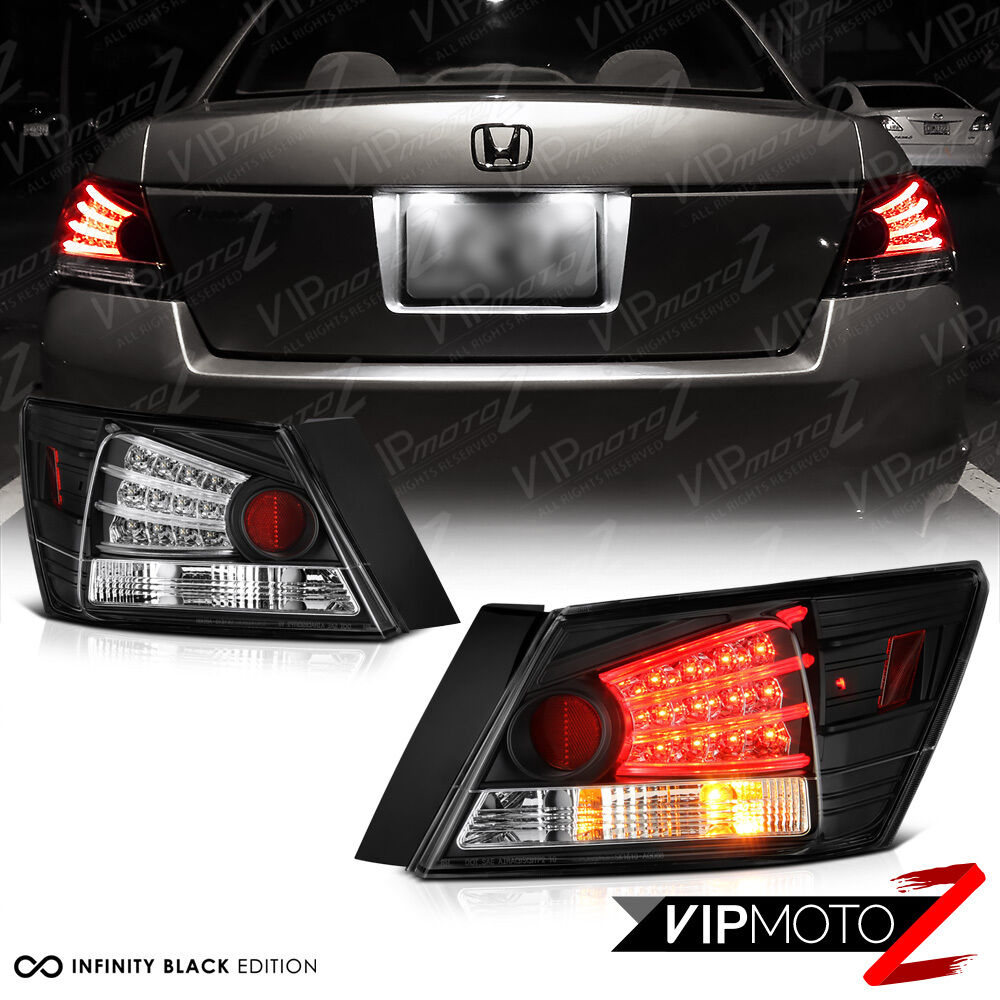 Honda Accord 08 12 Cp2 Cp3 Dx Lx Ex Se 4dr Led Black Tail