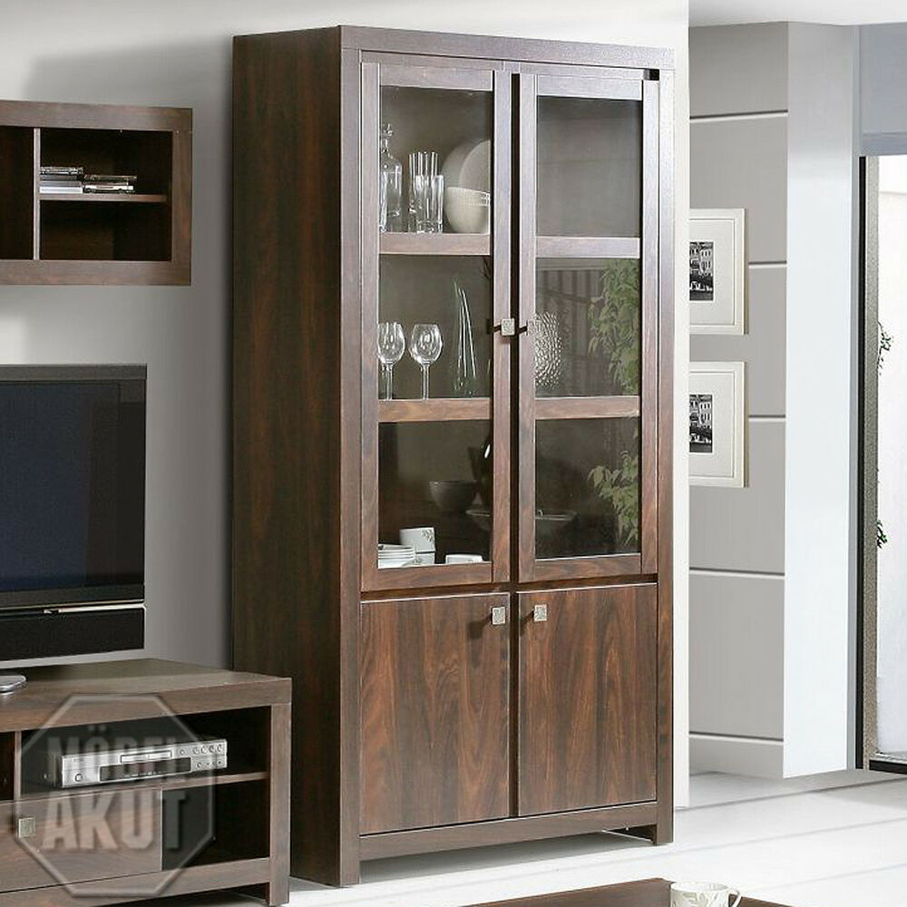 vitrine ii indigo regal schrank in eiche durance kolonialstil ebay. Black Bedroom Furniture Sets. Home Design Ideas