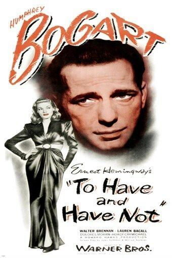bogart amp bacall to have and have not vintage movie poster