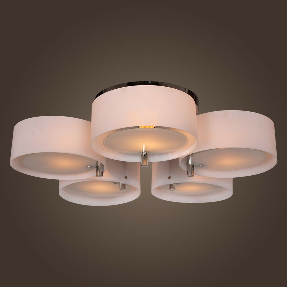 Hanging Light Round: Modern Round Chandelier Pendant Lamp Ceiling Light For