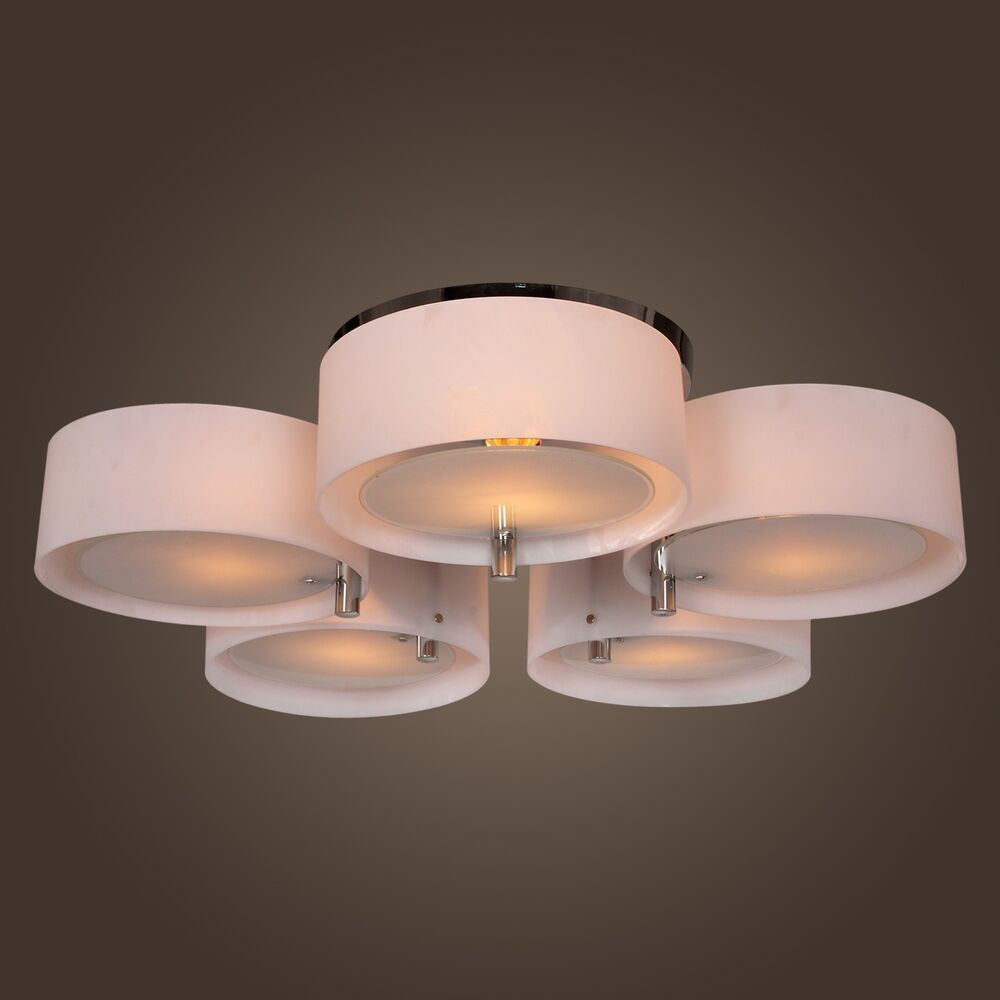 Modern round chandelier pendant lamp ceiling light for bedroom living room ebay - Chandelier ceiling lamp ...