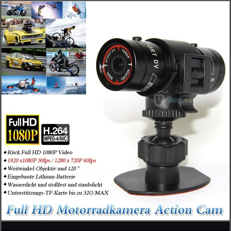 full hd mini sport action cam 1920x1080p kamera helm. Black Bedroom Furniture Sets. Home Design Ideas