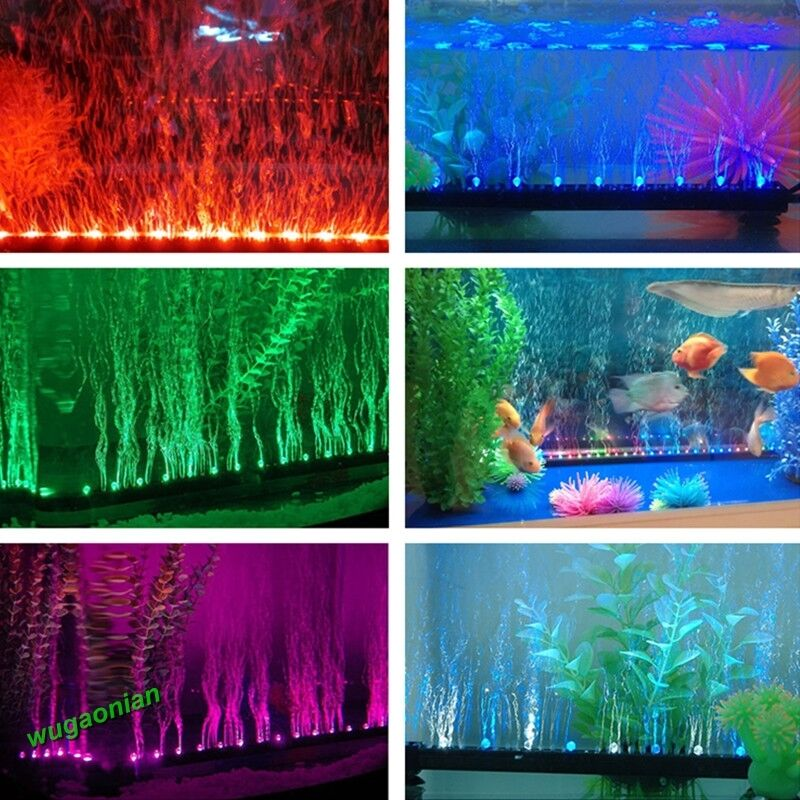 Aquarium Fish Tank Beaming Underwater Submersible Air Bubble Safe LED ...