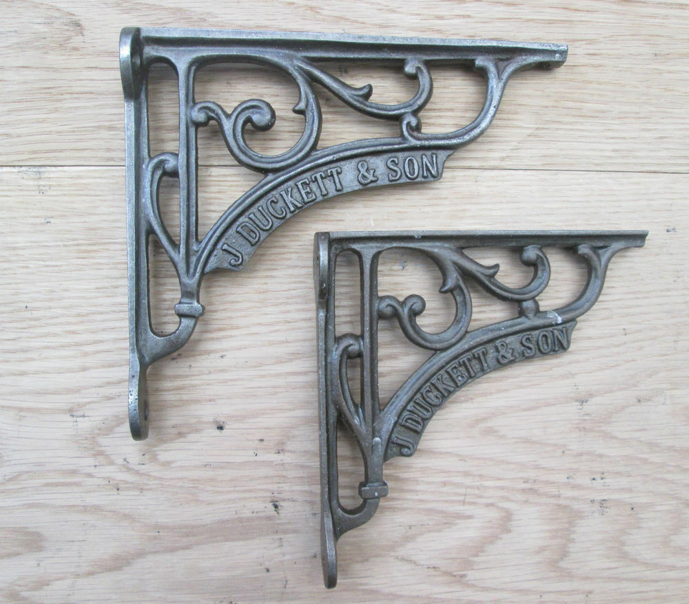 Cast Iron Decorative Fancy Shelf Support Book Sink Toilet