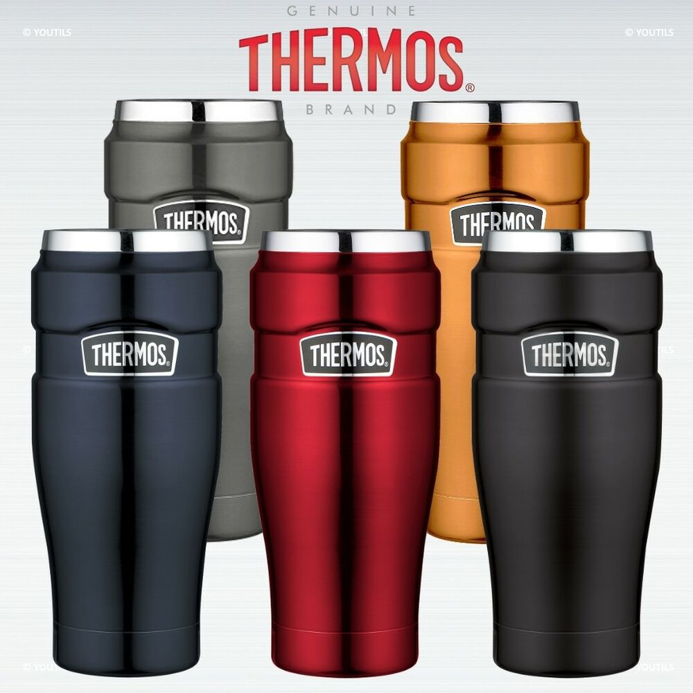 thermos stainless king travel tumbler leak proof vacuum insulated ebay. Black Bedroom Furniture Sets. Home Design Ideas