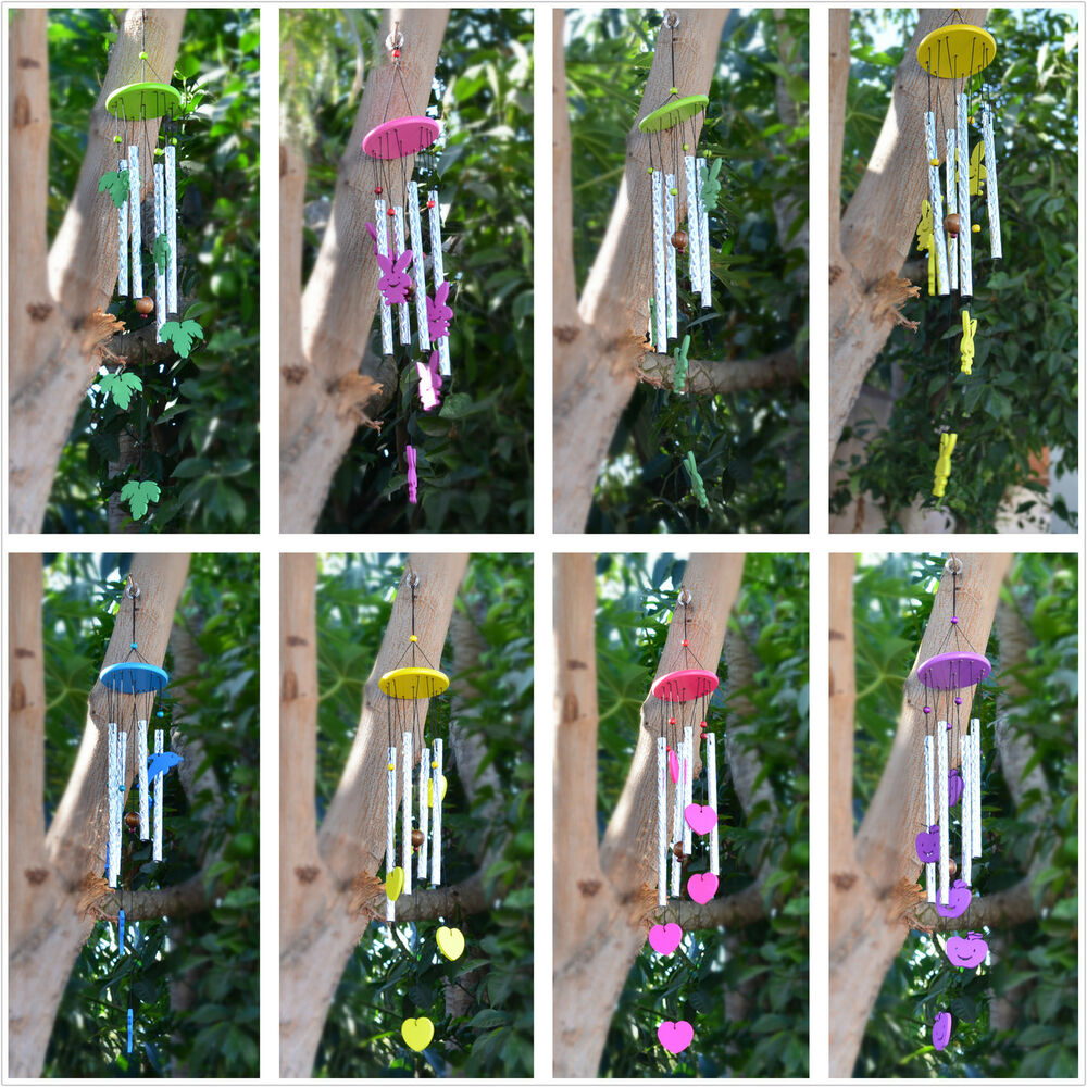 New Charming Wood Windchimes Tuned Handcrafted Wind Chime