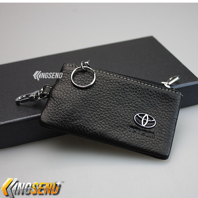 toyota key bag genuine leather car remote cover fob holder key chain case ebay