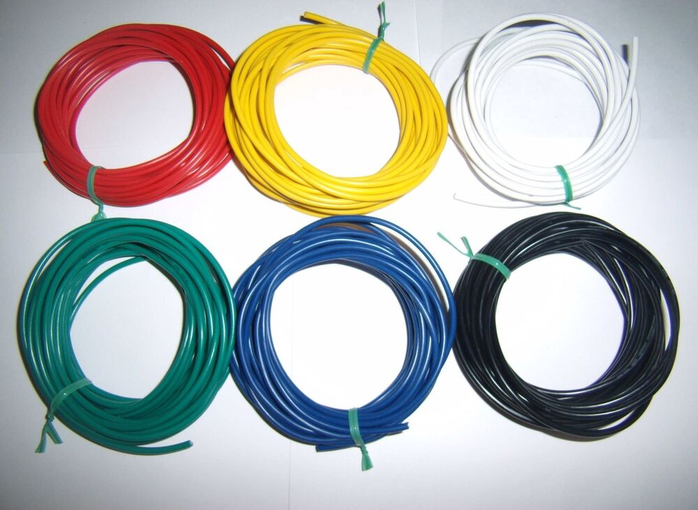 30 U0026 39  16 Gauge Awg Ga Black Red Yellow White Green Blue Car