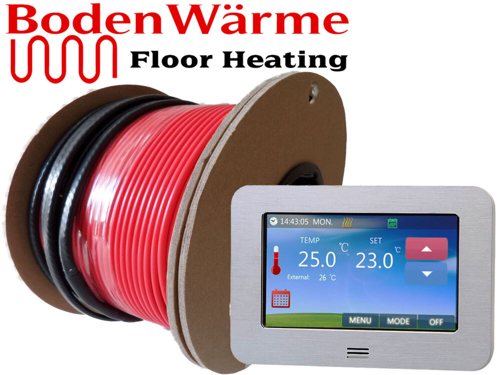 Electric Underfloor Heating Cable Kit All Sizes Loose Wire