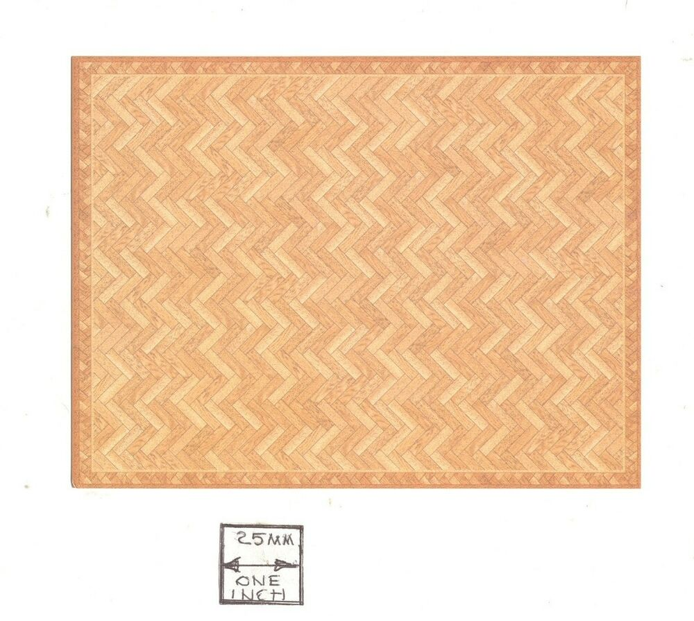 half scale faux parquet floor sheet 1 24 scale 24031 dollhouse world model ebay. Black Bedroom Furniture Sets. Home Design Ideas
