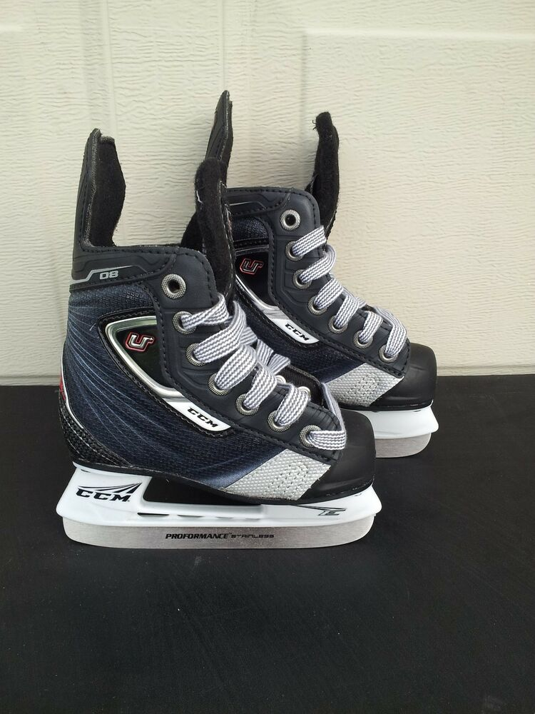 ccm u 08 youth ice hockey skates yth all sizes ebay. Black Bedroom Furniture Sets. Home Design Ideas
