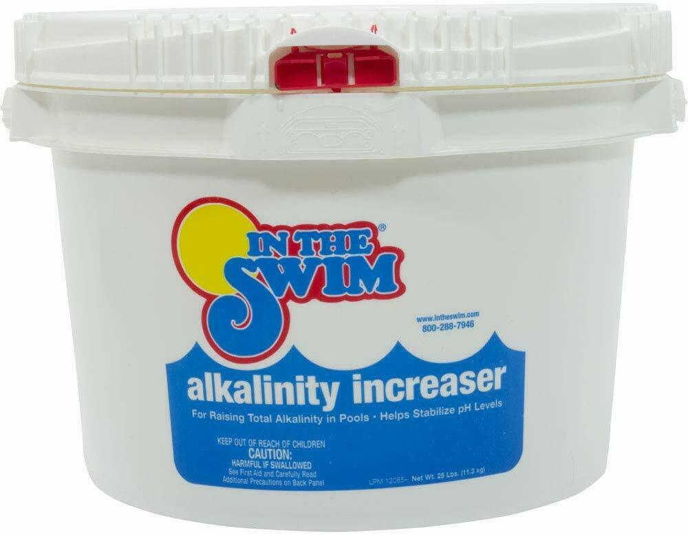 In the swim alkalinity increaser up plus for swimming pool 25 lb pail ebay Swimming pool high alkalinity