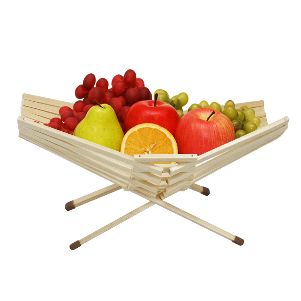 Chef Collection Table Bowl Decor Bamboo Fruit Basket