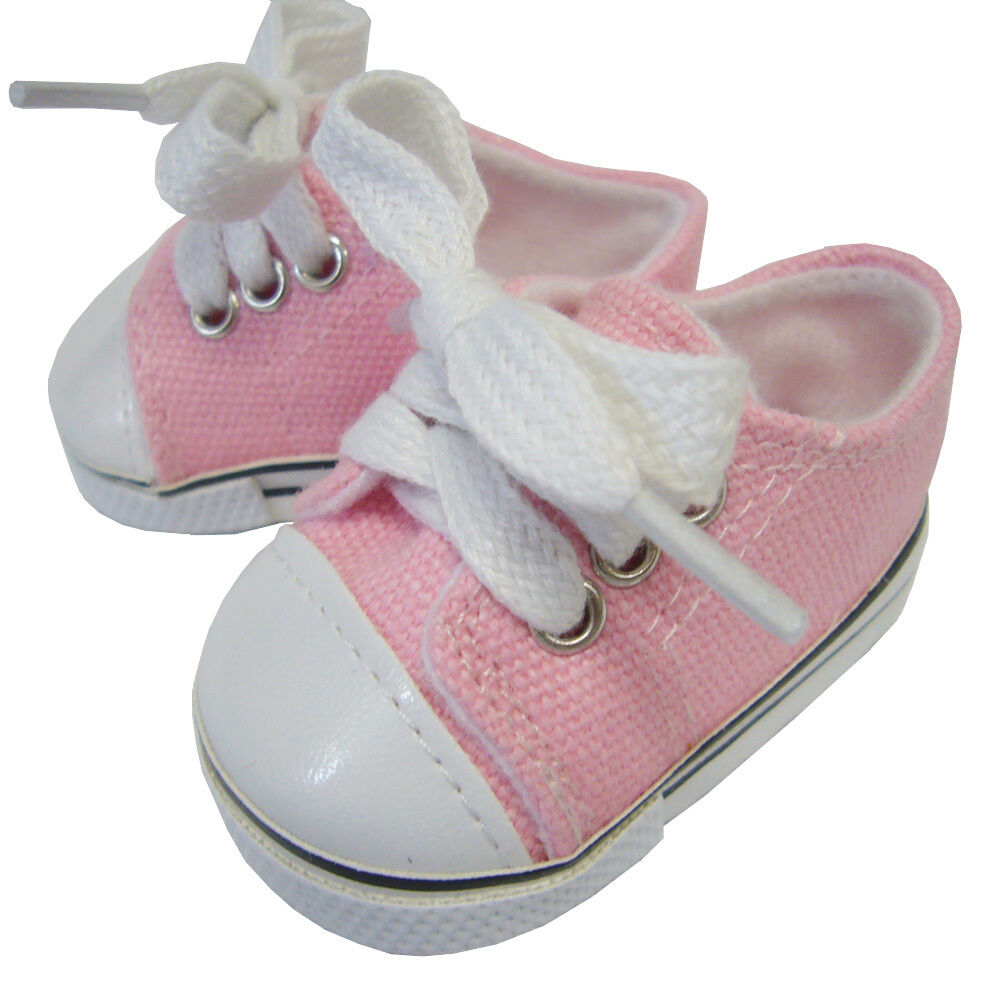 Pink Canvas Deck Gym Shoes Sneakers for Bitty Baby + Twins ...