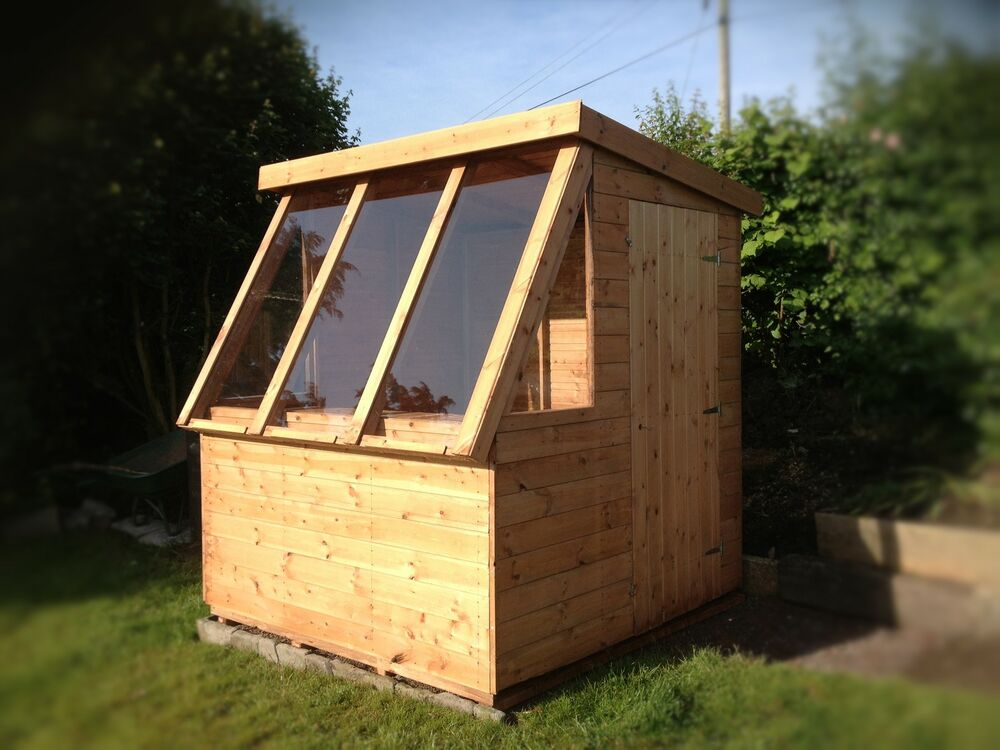 Tongue groove garden pent potting shed storage shed for Buy potting shed
