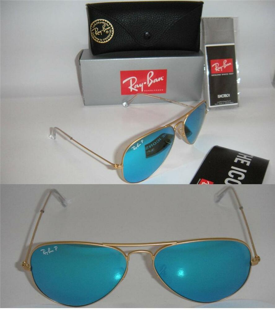 ray ban aviator gold frame black lens price  RAY BAN AUTHENTIC AVIATOR RB 3025 112/4L 58MM MATTE GOLD POLARIZED ...