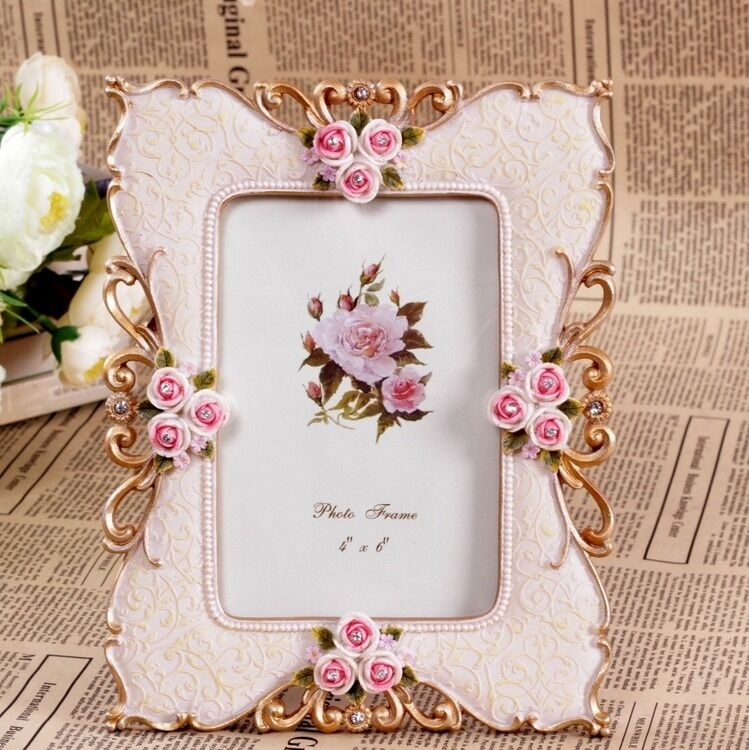 Retro Rose Flower Pink Home Decor Photo Frame Picture