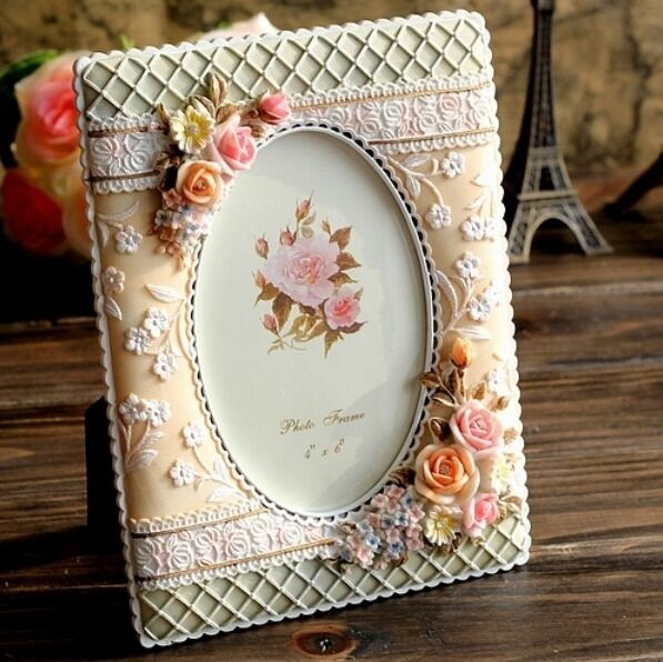 Retro vintage rose flower home decor photo frame picture for Rose home decorations