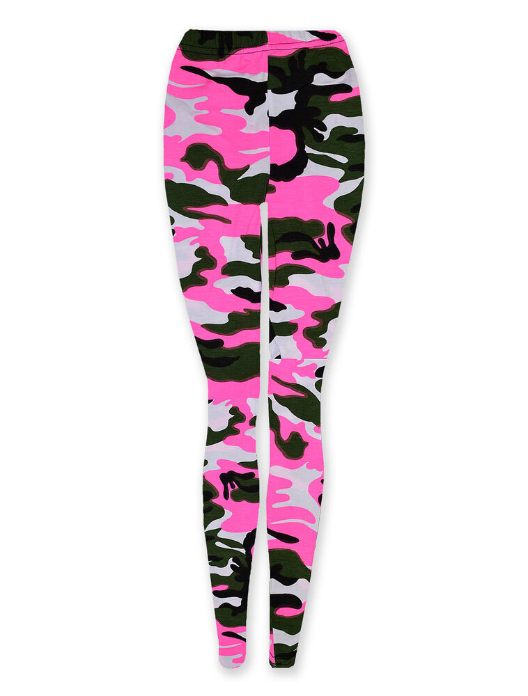 Girls Camo Print Leggings Kids Full Length Camouflage Legging New Age 2-13 Years | eBay